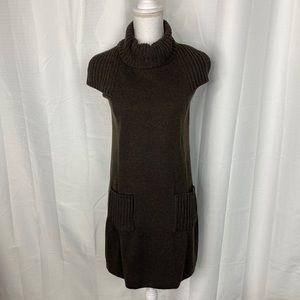 Calvin Klein Brown Mock Neck Sweater Dress Size S